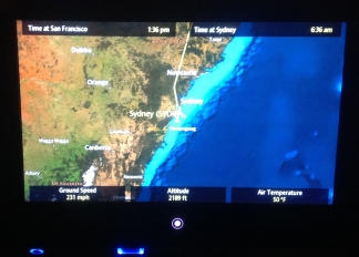 Interactive flight map