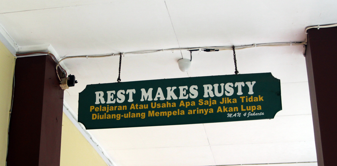 Rest Makes Rusty
