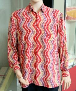 Sasirangan red stripes