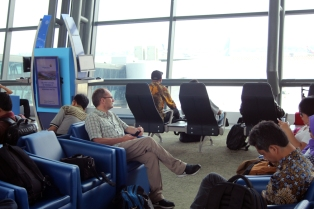 Waiting in Jakarta airport