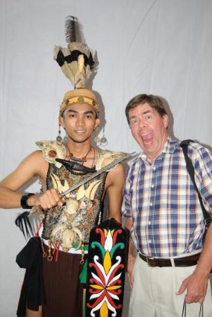 David with Dayak