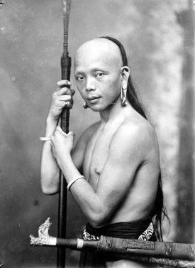 Dayak tribesman-1920