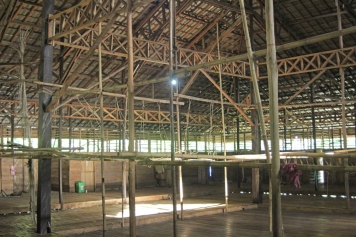 Inside longhouse