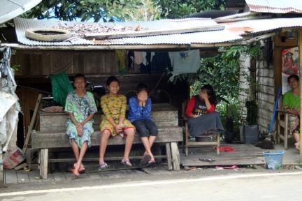 Mountain village shy kids