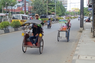 Pedicab and food cart