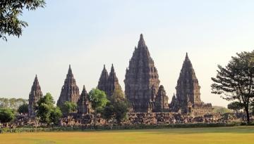 Prambanan from distance