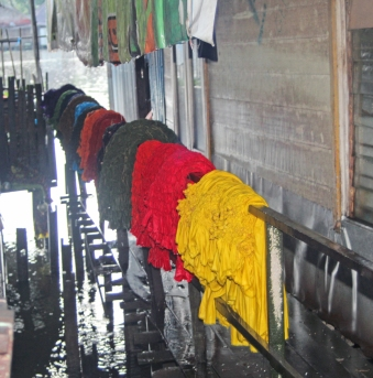 Dyed cloth
