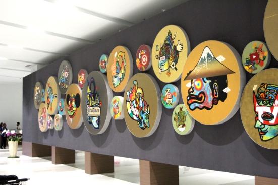 Mural in Jakarta airport