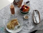 Banana pancake breakfast