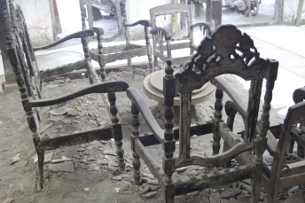 Charred furniture