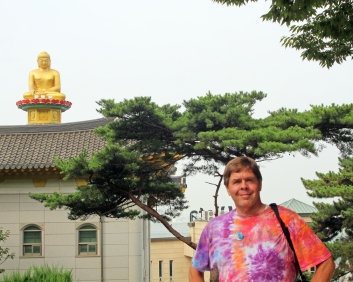 David at Incheon temple