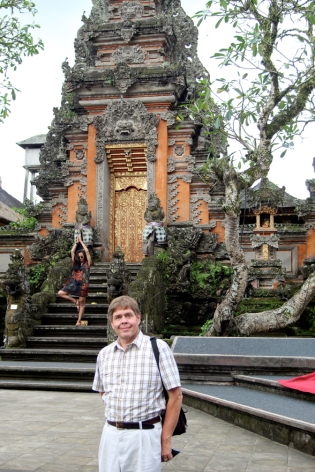David at Saraswati Temple Ubud