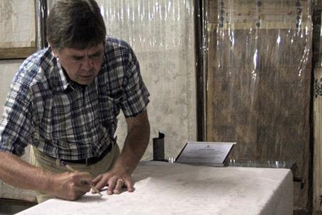 David tracing cartoon