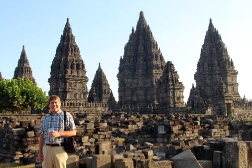 David with Prambanan complex