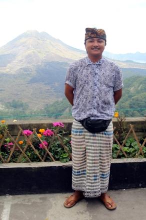 Gusti with Gunung Batur