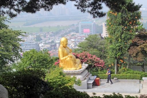 Looking down on fat Buddha