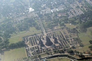 Prambanan from air