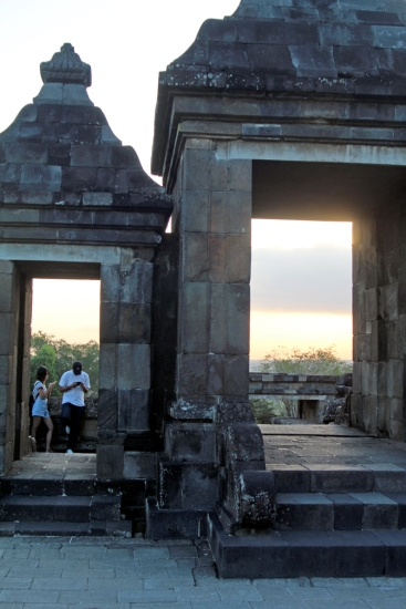 Ratu Boko gate toward sunset