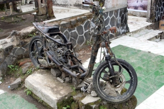 Ruined motorcycle