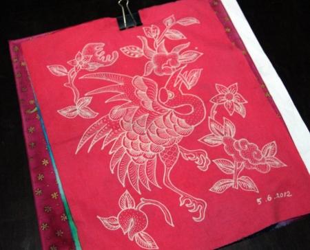 Single color batik