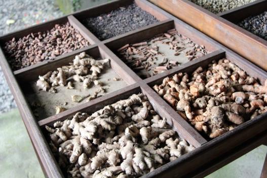 Spices grown at coffee farm