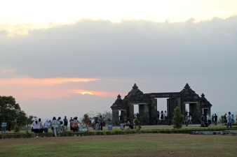 Sunset at Ratu Boko