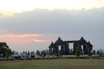 Sunset at Ratu Boko