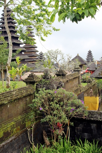 Temples and flowers above