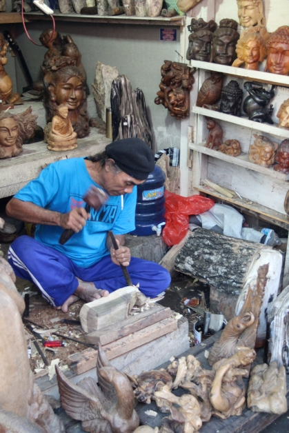 Wood carver and shop