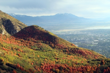 Provo Temple from Squaw Peak-fall