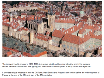 Carbboard model of Prague