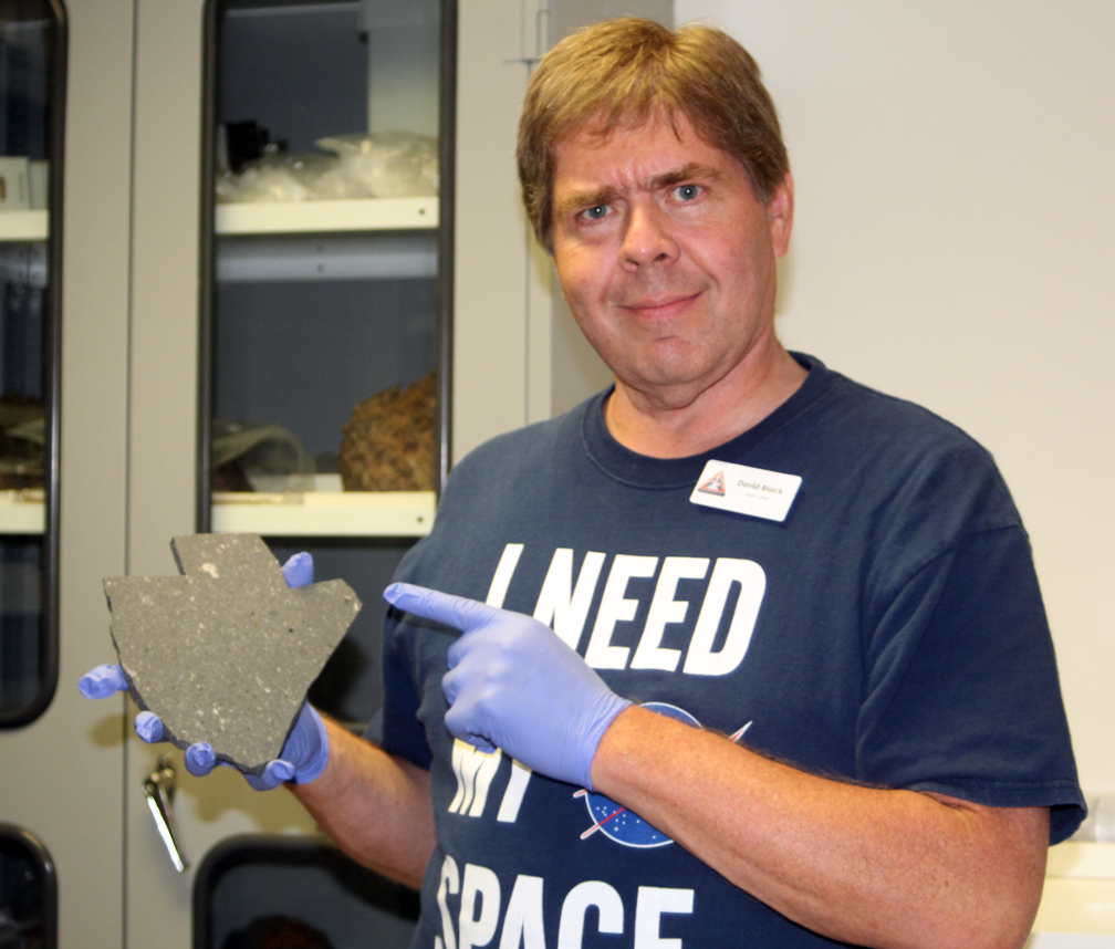 Me with Allende meteorite