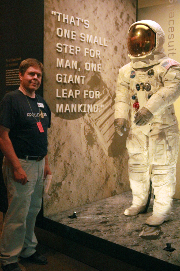 Me with Neil suit