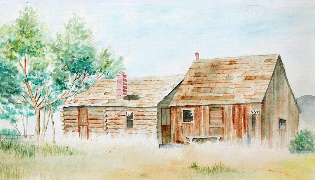 Ranch house - watercolor class